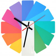 Часы настенные Transformer Clock. White & Multicolor